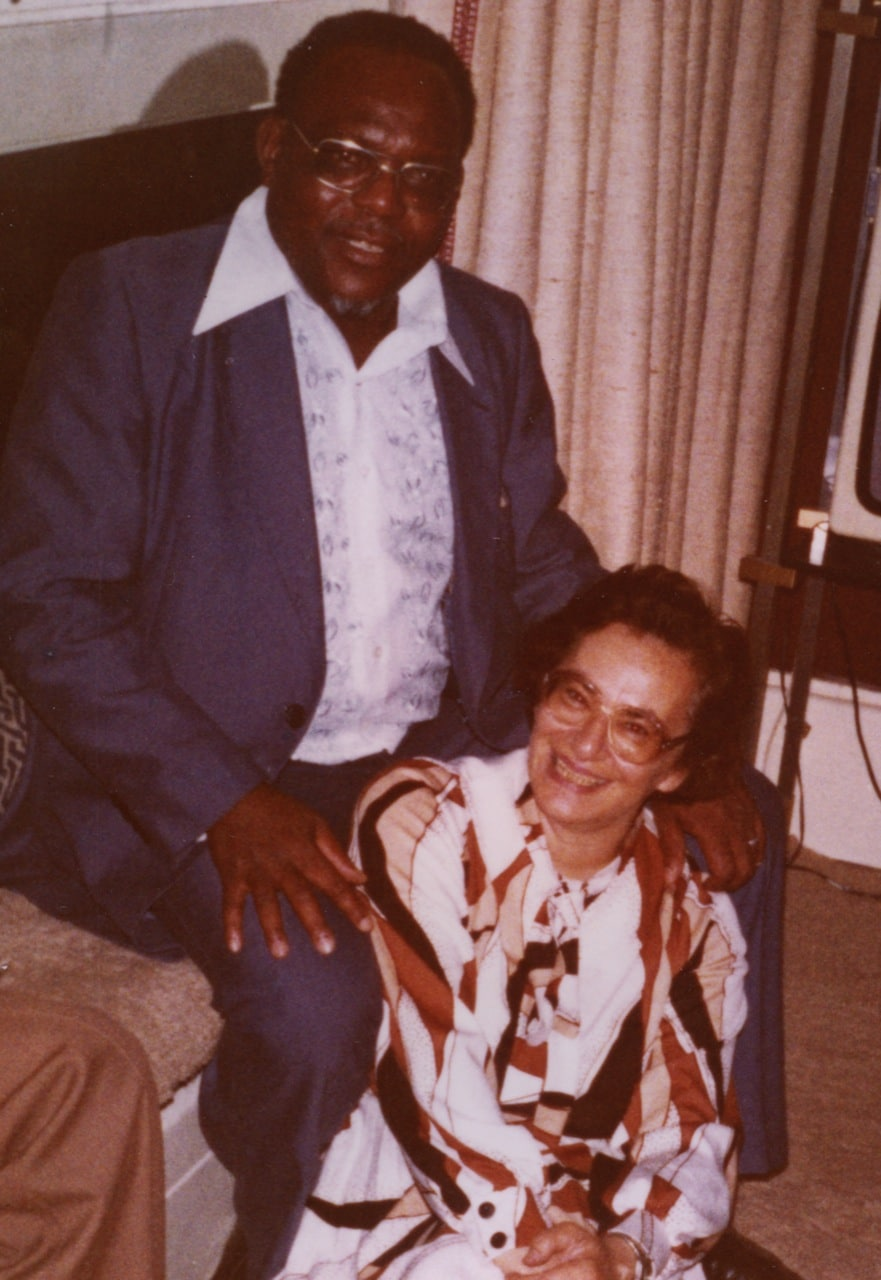 Ruth WITH Simon Muzenda, Worcester Park, London 1979