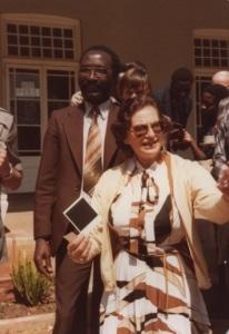 Ruth with participants of First Zimbabwe Media Seminar, Harare 1980
