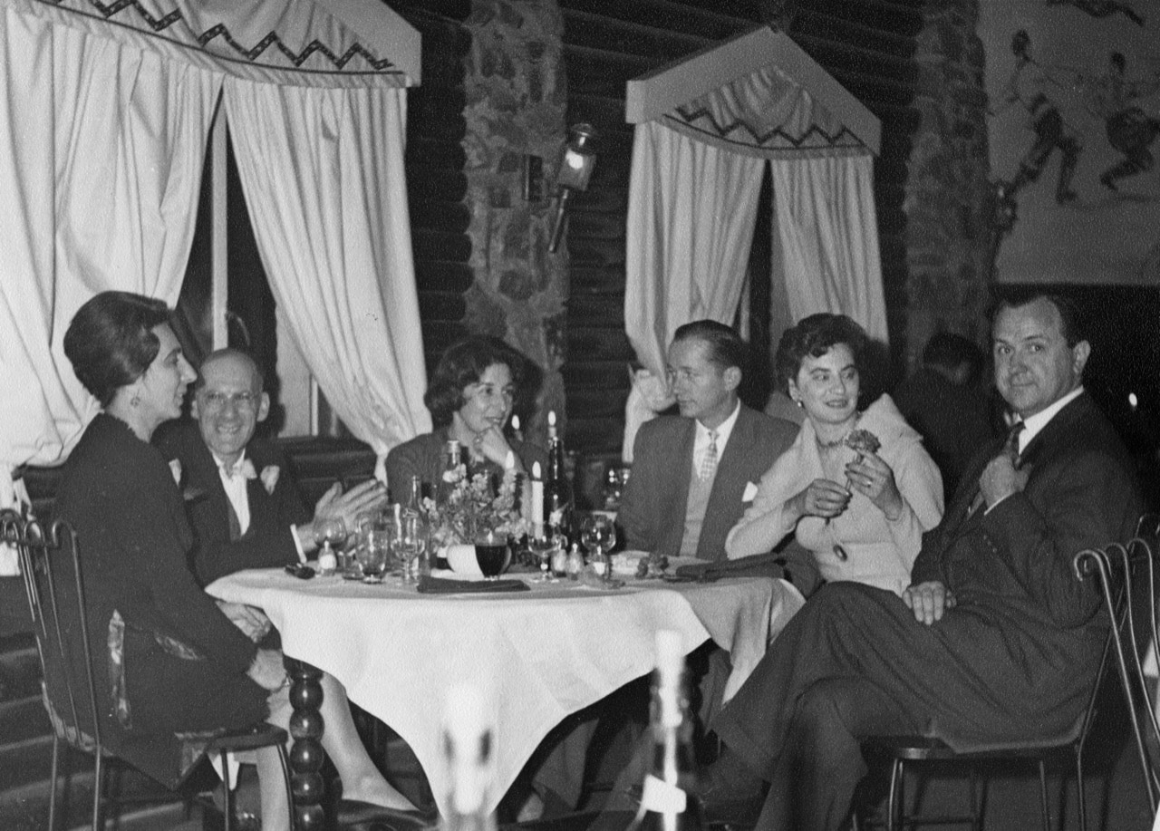 Johannesburg dinner part, Hans Weiss (second from left, Ruth Weiss 5th from left)