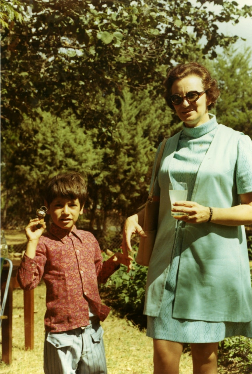 Ruth Weiss and son Alexander in Lusaka earl 70s