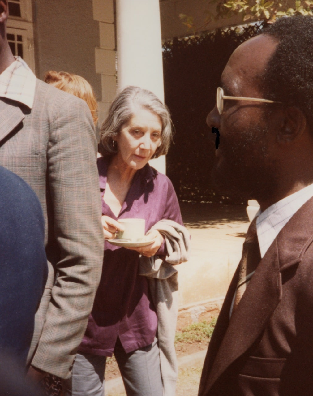 Nadine Gordimer, South African writer at the first Zimbabwe media conference Salisbury (Harare) 1980