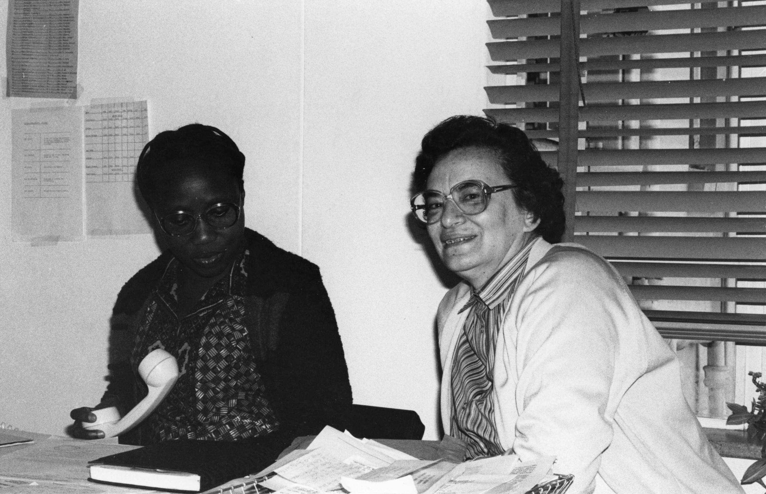 Zanu-PF head office, Harare: Sally Mugabe with Ruth Weiss